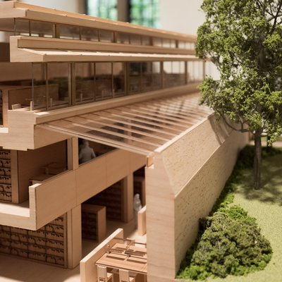 architects' model showing the new Library & Study Centre