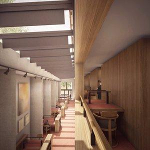 Library & Study Centre mezzanine floor