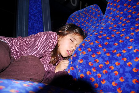 Sara Molnar sleeping