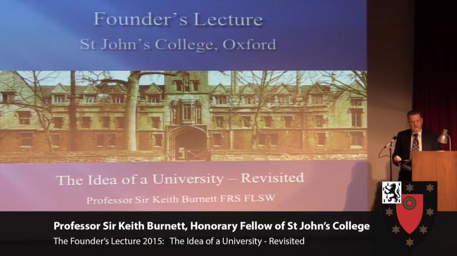Sir Keith Burnett - Founder's Lecture 2015