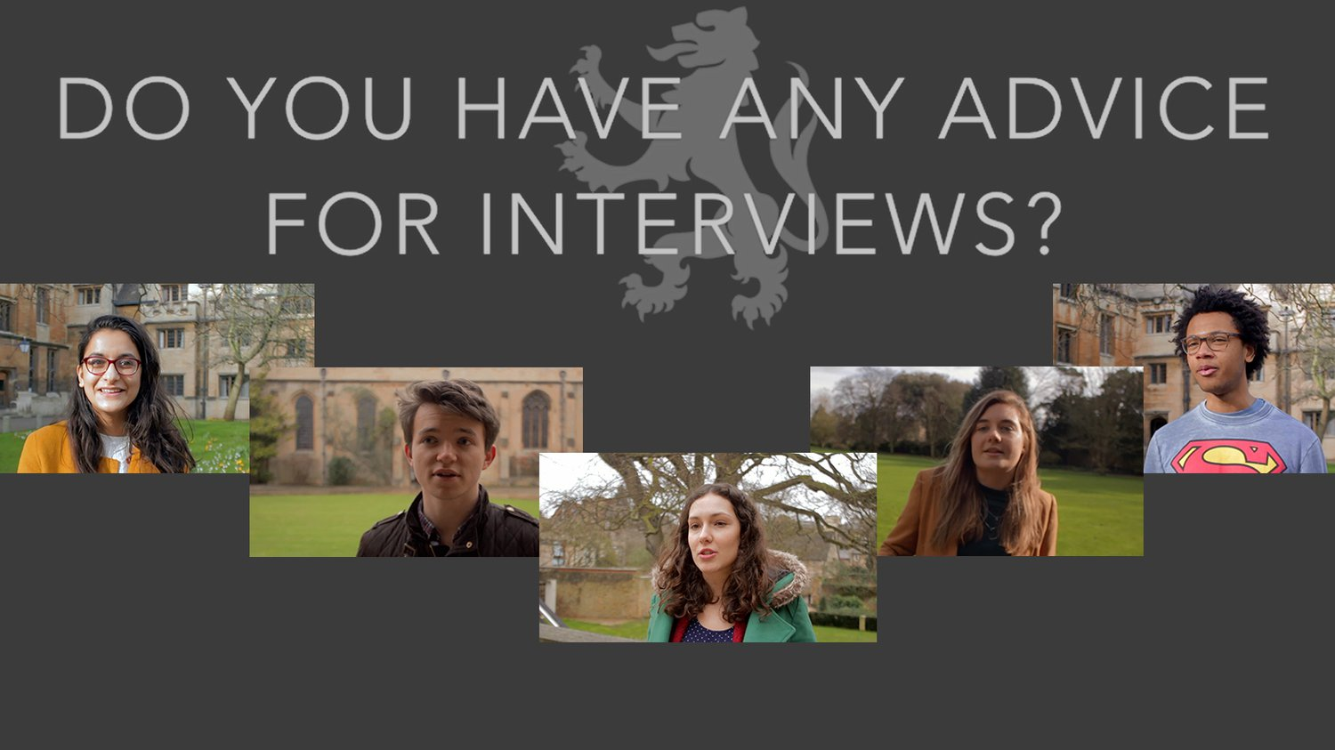 Student Interview Advice