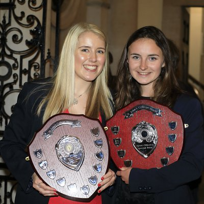 Sports Woman of the Year and Sports Officer's Special Prize trophies