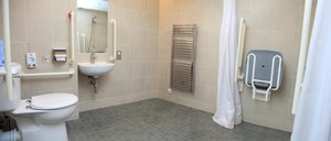 bathroom for a student with disabilities