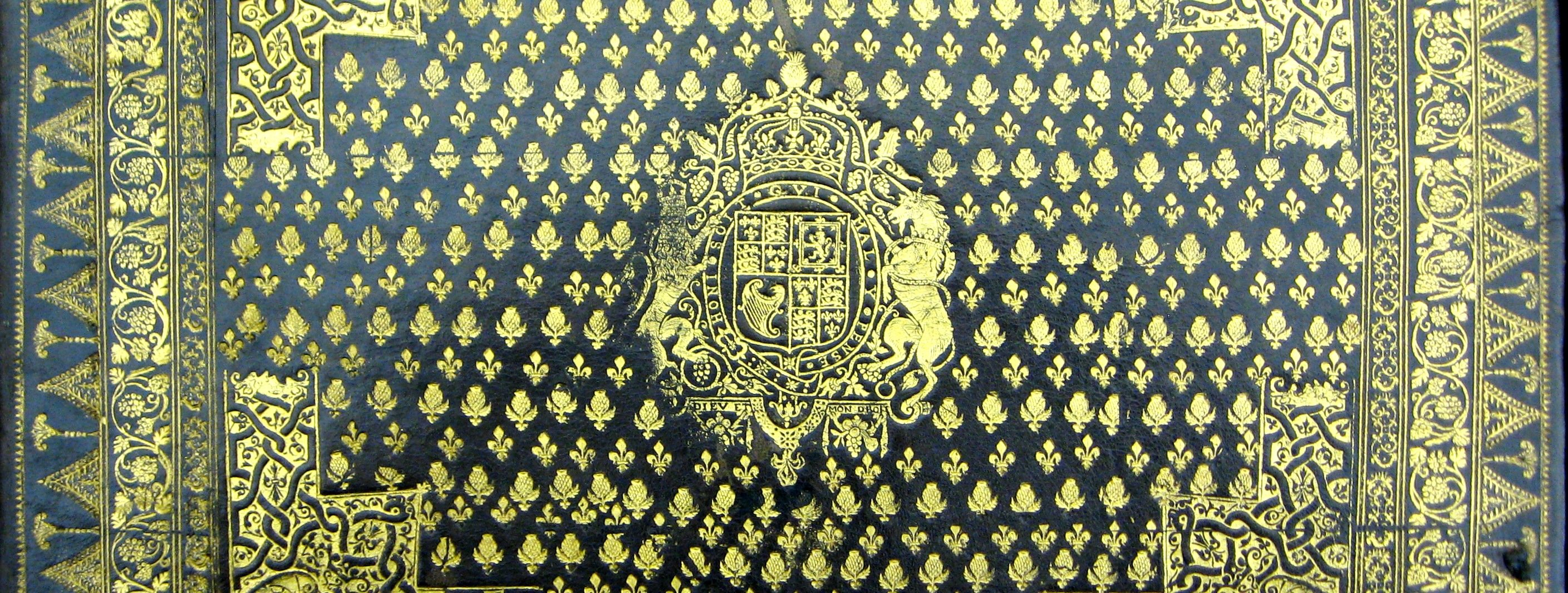 Armorial binding with the Royal Arms of Charles I