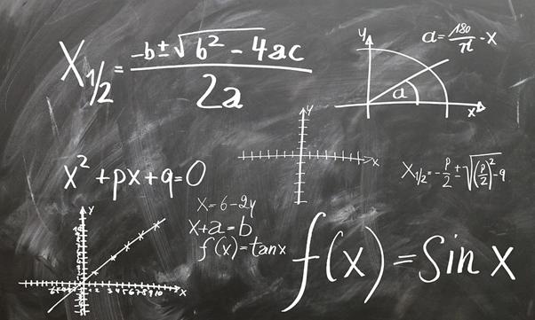 Maths blackboard