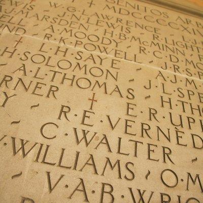 war memorial in Canterbury Quad