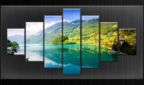 HUGE EXTRA LARGE CANVAS PICTURES WALL ART GREEN SPLIT NATURE MULTI ...
