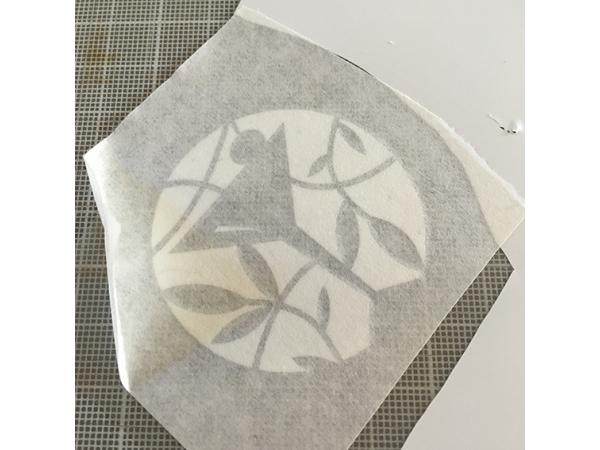 Folie, ongespiegeld geprinte zijde boven afbeelding 1