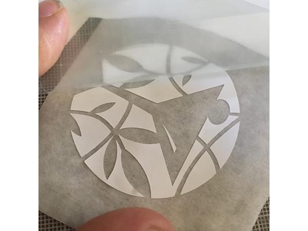 Folie, ongespiegeld geprinte zijde boven afbeelding 2