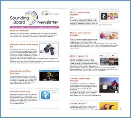 Sounding Board March newsletter
