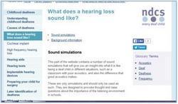 NDCS hearing loss simulations