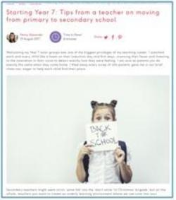 Penny's tips for starting year7