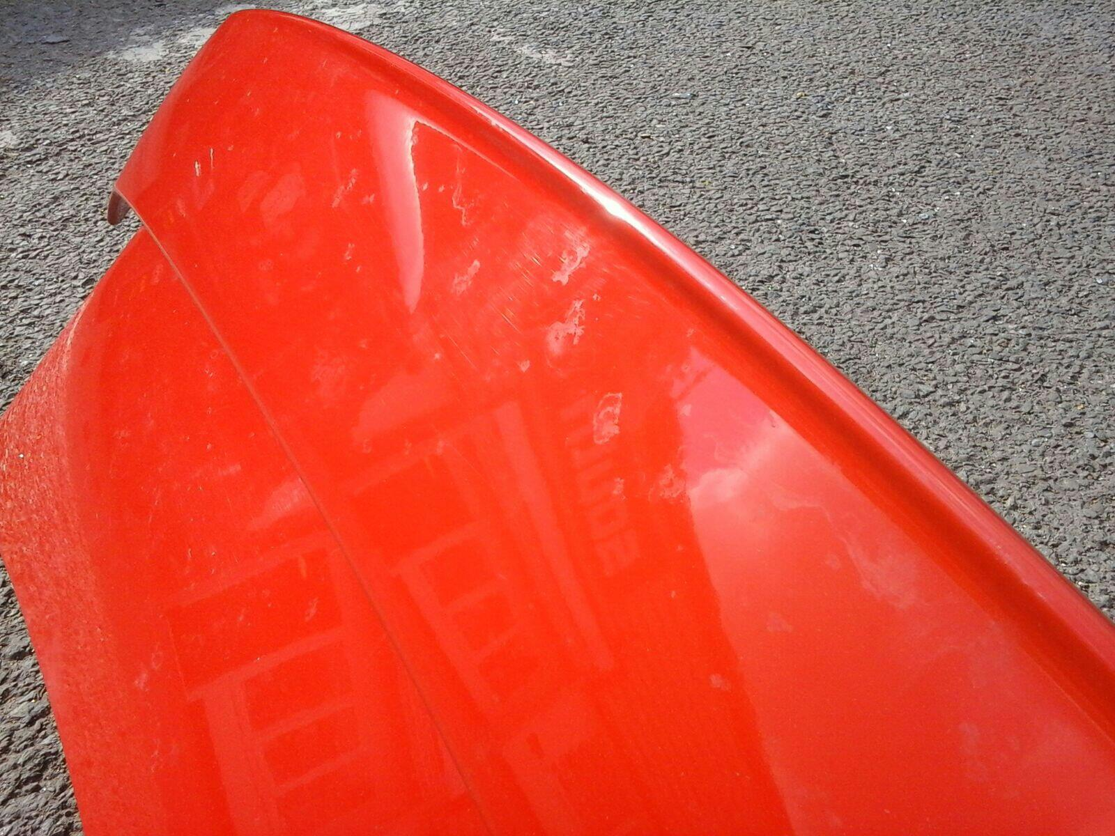 VAUXHALL ASTRA G MK4 CONVERTIBLE BOOT LID TAILGATE+ SPOILER RED 547/79L  99-05