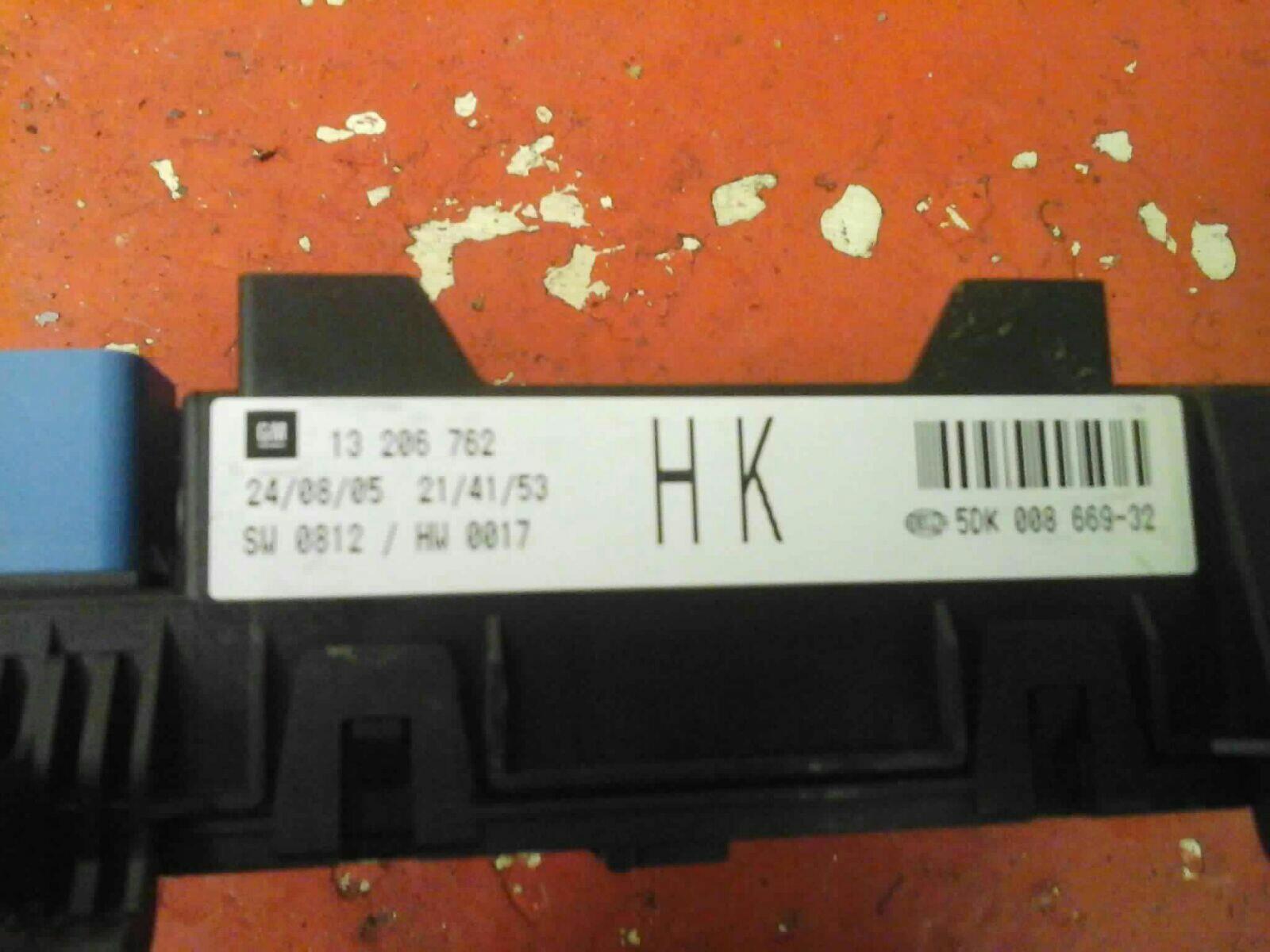 VAUXHALL ASTRA MK5 H + ZAFIRA B REAR ELECTRIC CONTROL REC FUSE BOX HK  2004-2010