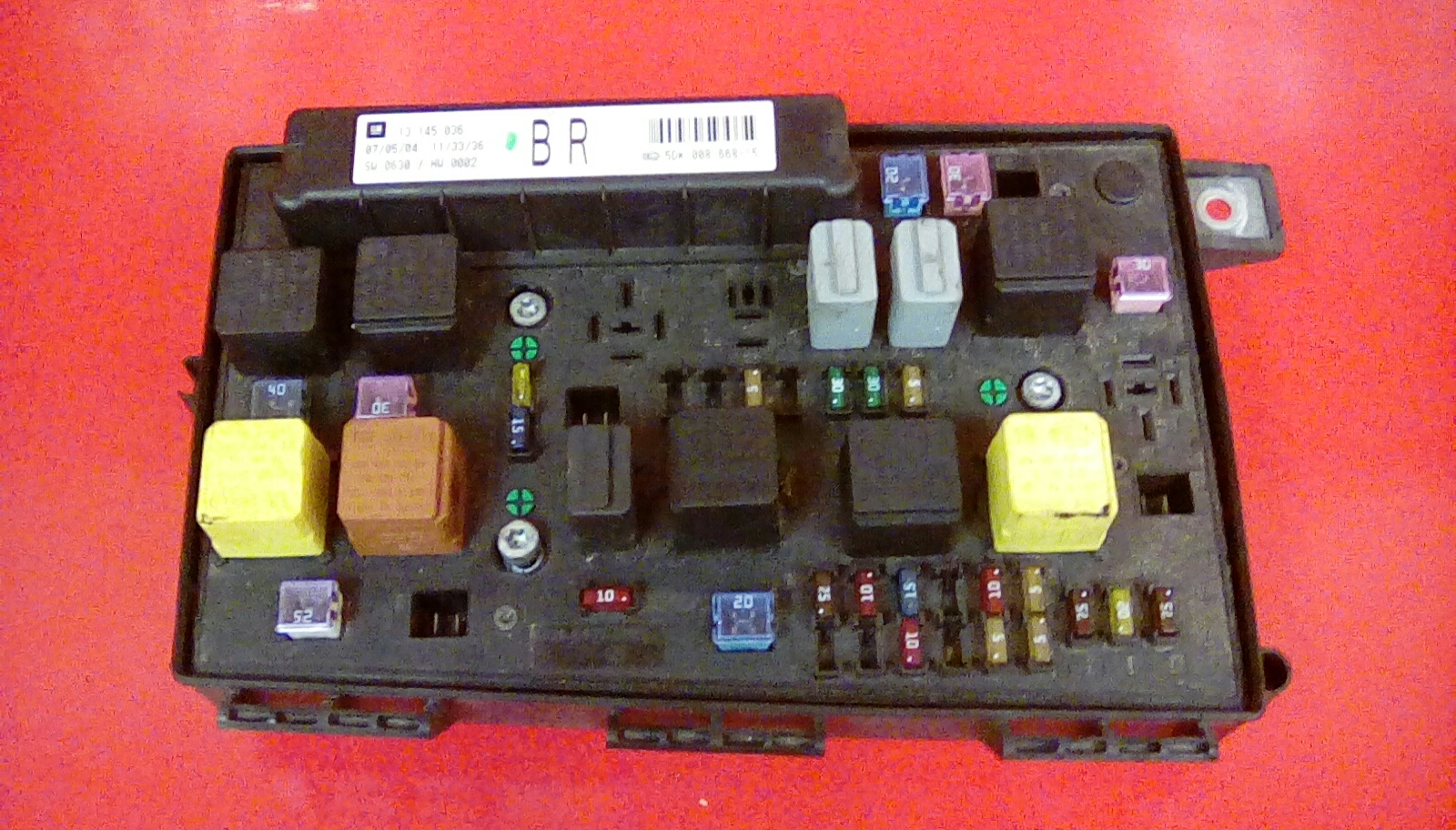 VAUXHALL ASTRA H MK5 FRONT BCM UEC ELECTRIC CONTROL BR FUSE BOX 2004-2010