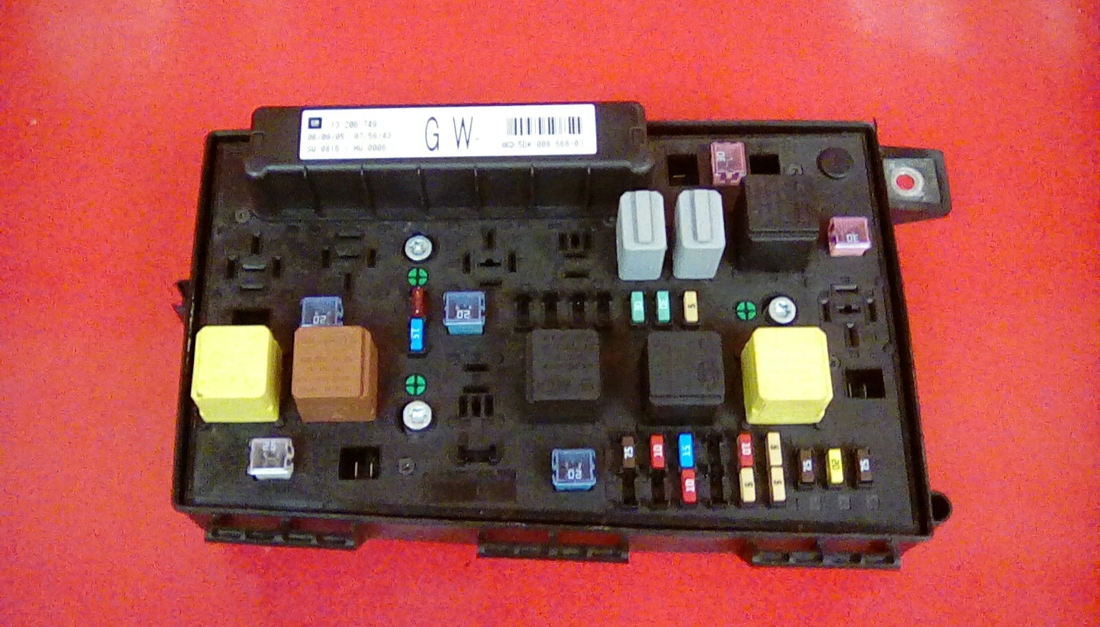VAUXHALL ASTRA H MK5 FRONT BCM ELECTRIC CONTROL GW UEC FUSE BOX 2004-2010