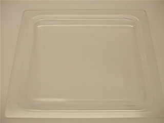 Glass Tray | 38cm length x 32cm width x 1.8cm height | Part No:00114537