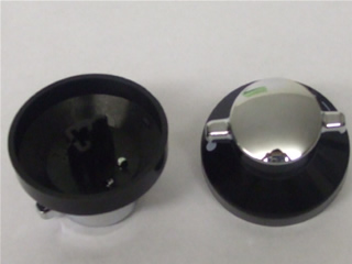 Knob | Black & Silver | Part No:081880326