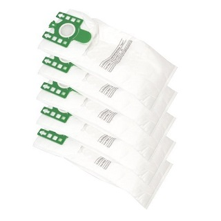 Dust bags U Type   Pack of 5 Green Collare   Part No:Bag311