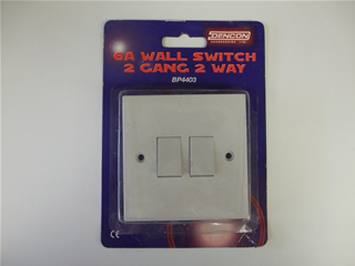 Switch | 6 Amp wall switch 2 gang 2 way | Part No:BP4403