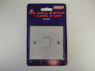 Switch | 10 Amp wall switch 1 gang 2 way | Part No:BP4402