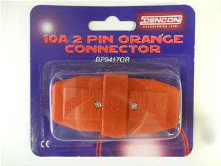 Connector | 10 Amp connector 2 pin orange | Part No:BP94170R