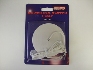 Switch | 6 Amp ceiling switch 1 Way | Part No:BP1730