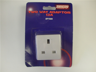Adaptor | Two Way 13 Amp | Part No:BP1685