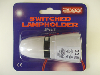 Lampholder | Switched max wattage 100w | Part No:BP1415