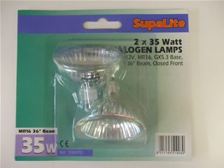 Lamps | MR16 12V halogen bulb 35w x2 | Part No:590970