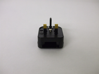 Black Plug Assembly | Plug adapator for 2 pin mains lead | Part No:65GD16