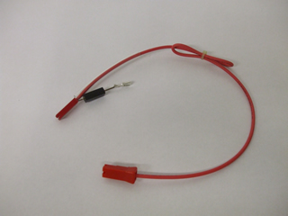 Protector diode | 0.35ma connector red | Part No:A606V3280