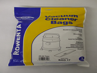 Bags | ZR80 Dust Bag Pk 5 | Part No:Bag17