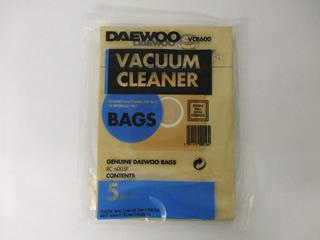 Bags | Pk 5 Bags | Part No:DAEVACBAG600