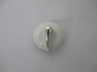Control Knob | White Control Knob Assembly This part is now only supplied with chrome insert and not gold | Part No:C00269309