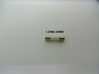 Fuse | 1.25MA 20MM Fuse | Part No:Fuse1.25MA20