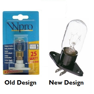 25w T25 Appliance Lamp | 25w Microwave Oven Bulb With Holder. A Base LMO006. | Part No:481281728331