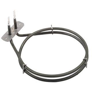 Fan Oven Element   Genuine Fan Assisted Heater. 2 Turn, 1600 watts, Height 195mm, Width 155mm, Bracket 70mm, Tags 25mm   Part No:262510005