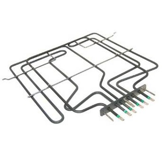 Element | Dual Grill/Oven Element 3200W Height: 380 (mm), Width 370 mm, Bracket : 150 mm, Tags: 25 - 55 - 100 mm | Part No:481925928937