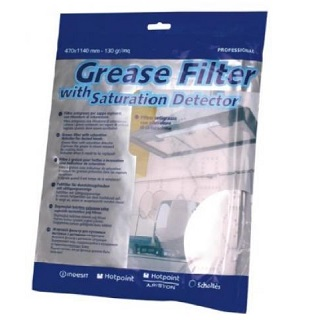 Grease Filter | Universal Cooker Hood Grease Filter from Indesit 470x1140mm | Part No:C00076031