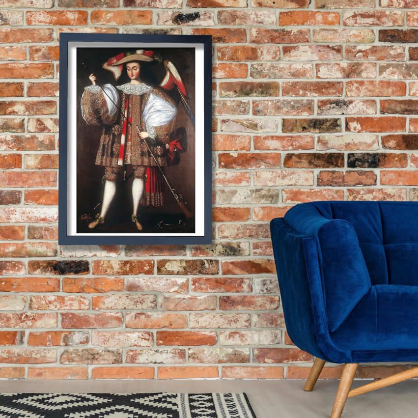 Anonymous Cusco School - Archangel Eliel With Harquebus Wall Art Poster Print