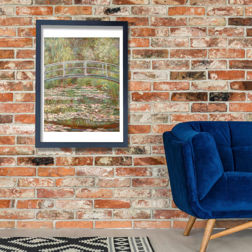 Claude Monet - Japanese Bridge Over Water Lillies Wall Art Poster Print