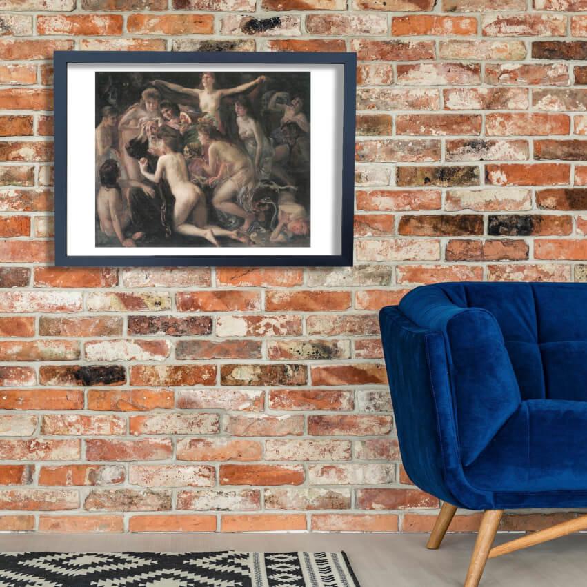 Lovis Corinth - Die Versuchung des heiligen Antonius 1897 Wand Kunst Poster Drucken