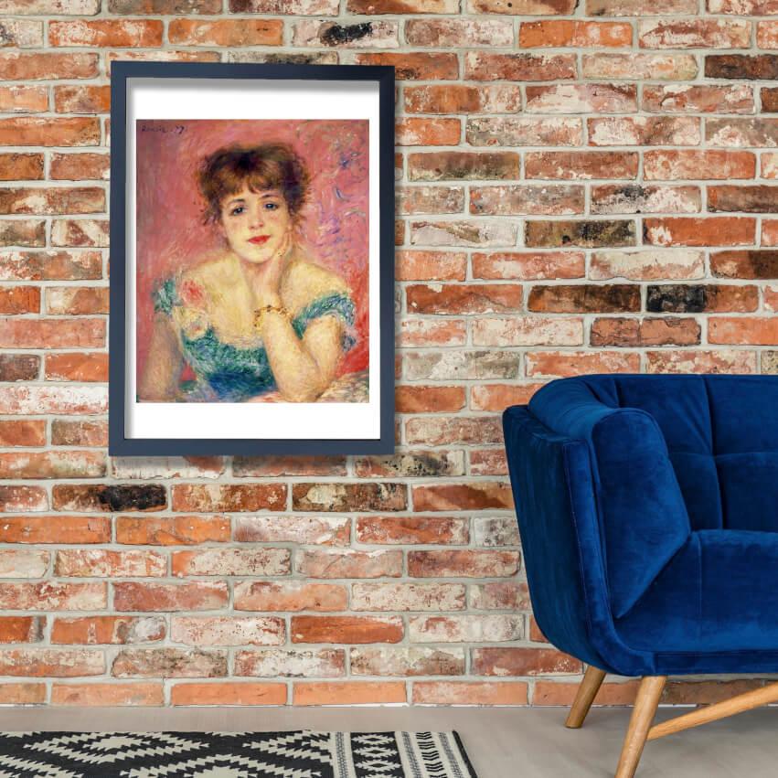 Pierre Auguste Reschwarz - Portrait Jeanne Samary Wall Art Poster Print