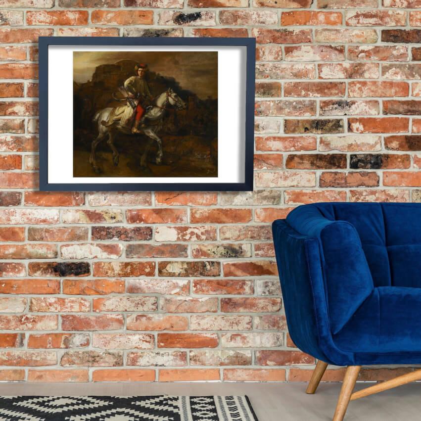 Rembrandt Harmenszoon van Rijn - The Polish Rider Dark Wand Kunst Poster Drucken