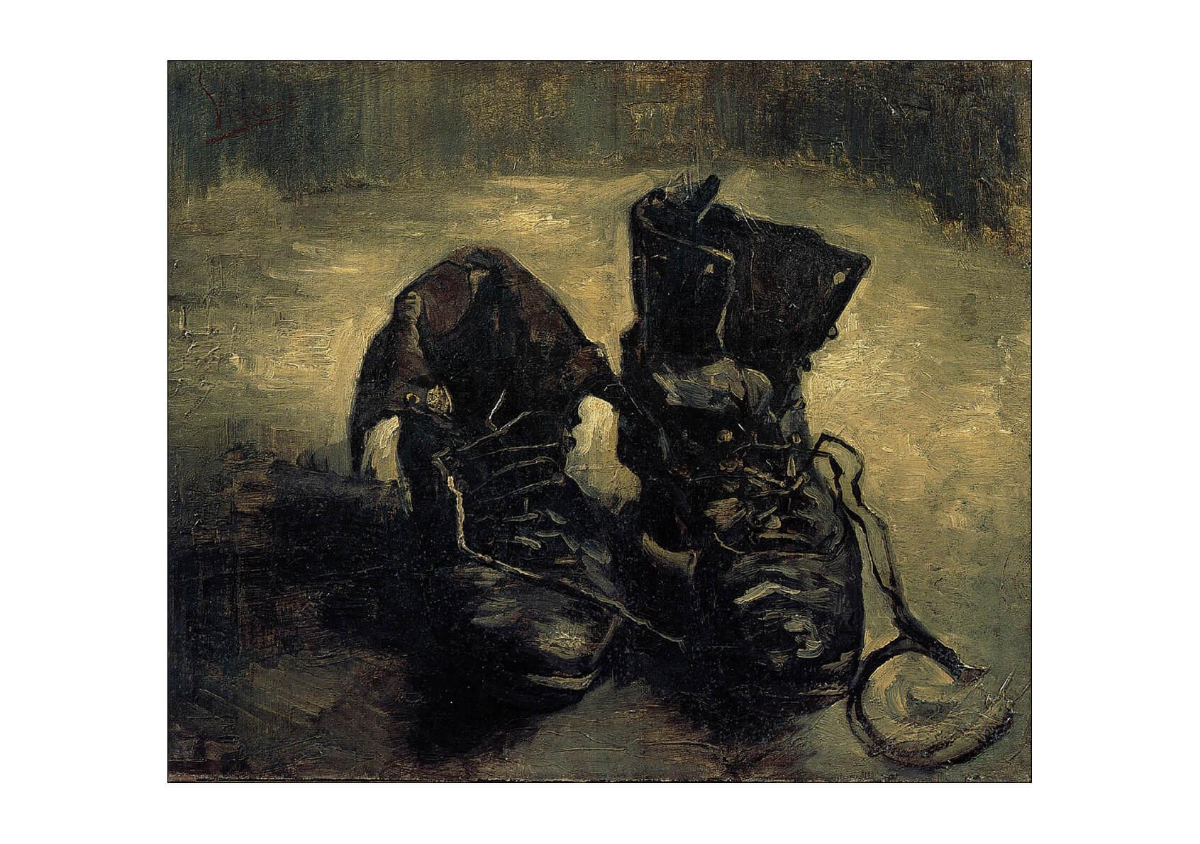 Zapatos Gogh Impresión De Pared Arte Cartel 1886 un Par Vincent Van 1SFOq6U
