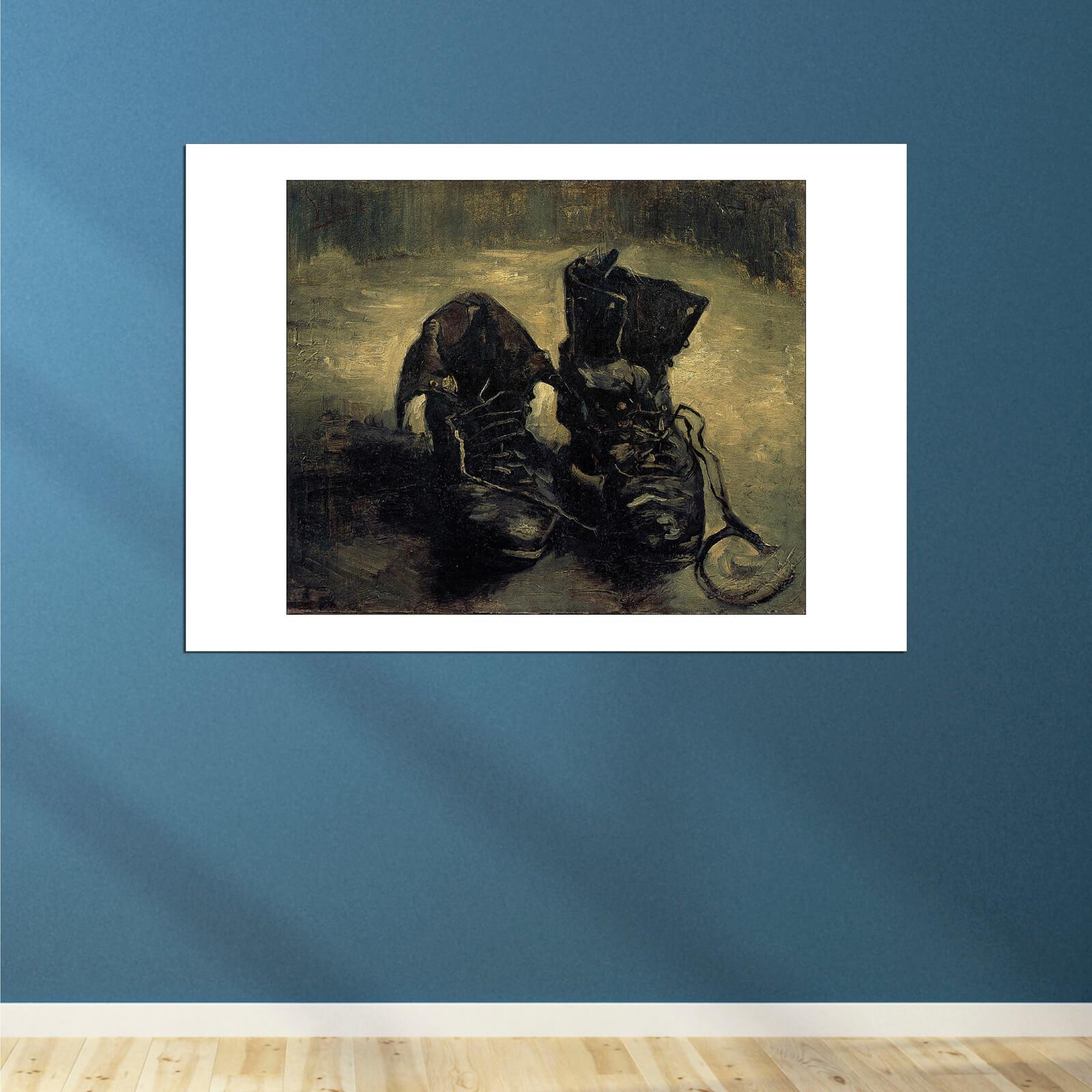 Vincent Van Gogh A Pair of Shoes 1888 Wall Art Poster Print