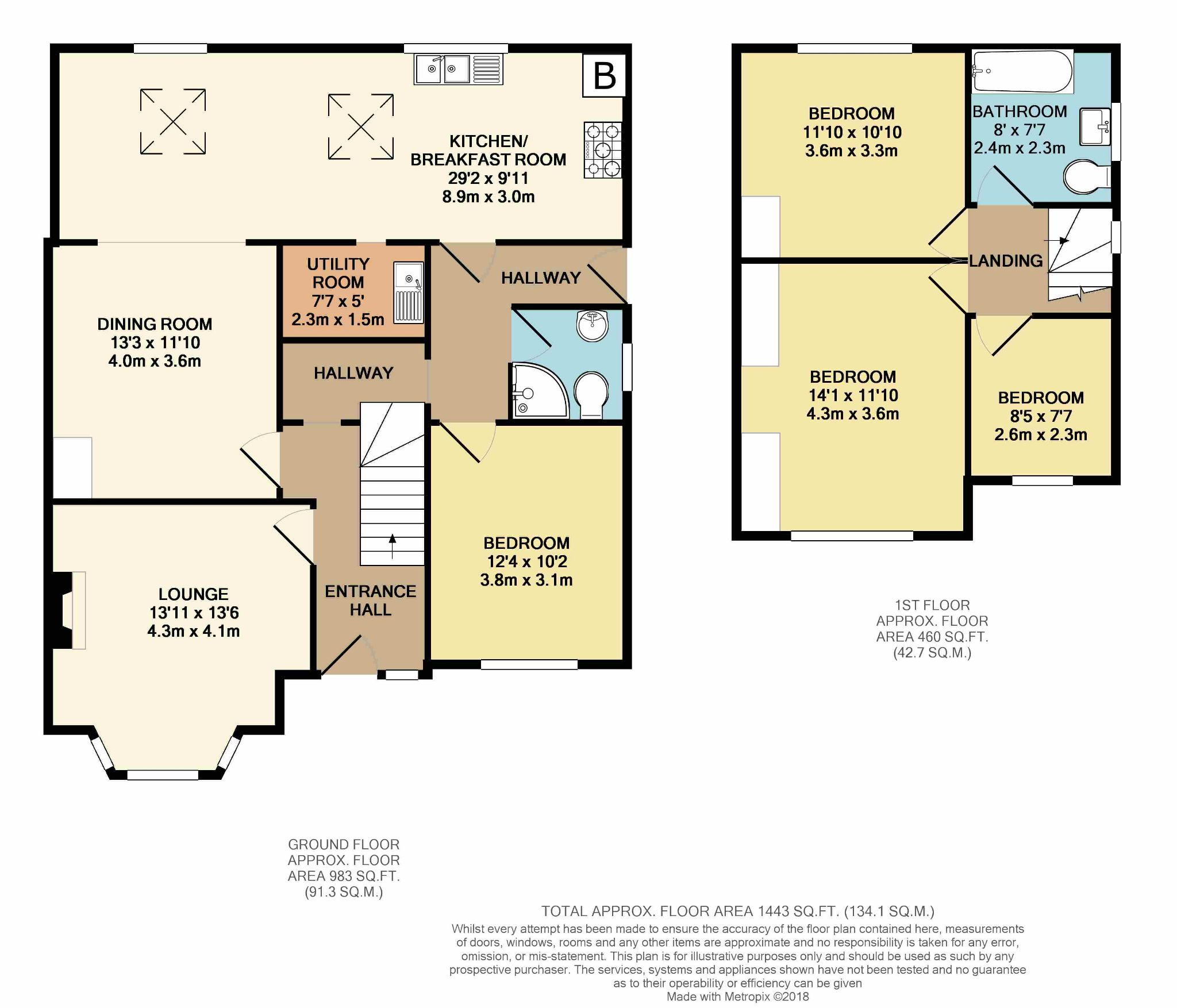 4 bedroom semi-detached house For Sale in Hebden Bridge - Floorplan 1