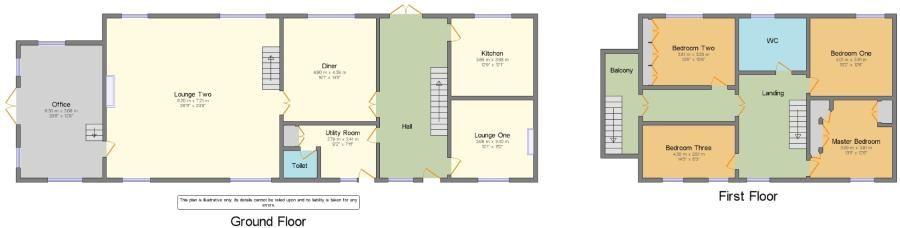 4 bedroom detached house Sale Agreed in Todmorden - Floorplan 1