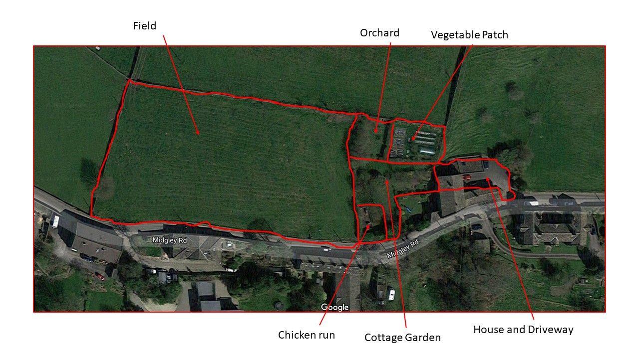 5 bedroom barn conversion house SSTC in Hebden Bridge - Land Plan